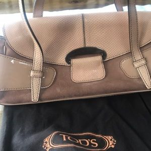 Light rose suede TOD'S bag